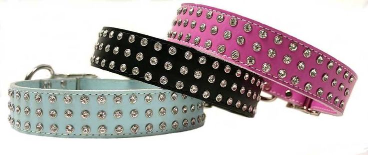 Jeweled Collars | Sassy Frassy Jeweled Crystal Big Leather Dog Collars | Dog Supplies