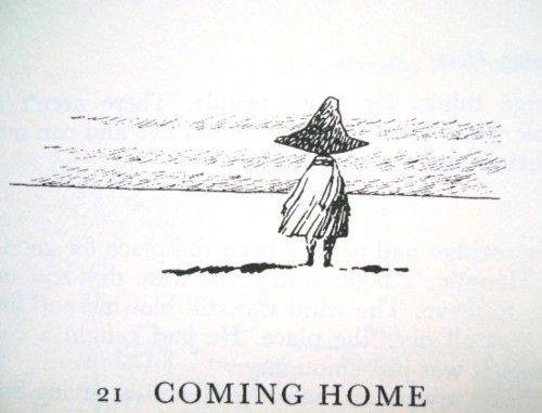 """But that's how it is when you start wanting to have things. Now, I just look at them, and when I go away I carry them in my head. Then my hands are always free, because I don't have to carry a suitcase."" –Snufkin"