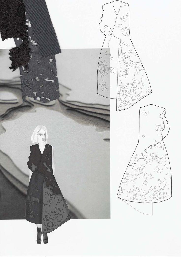 Fashion Sketchbook - fashion drawings & distressed fabric swatches; fashion portfolio // Amanda Svart