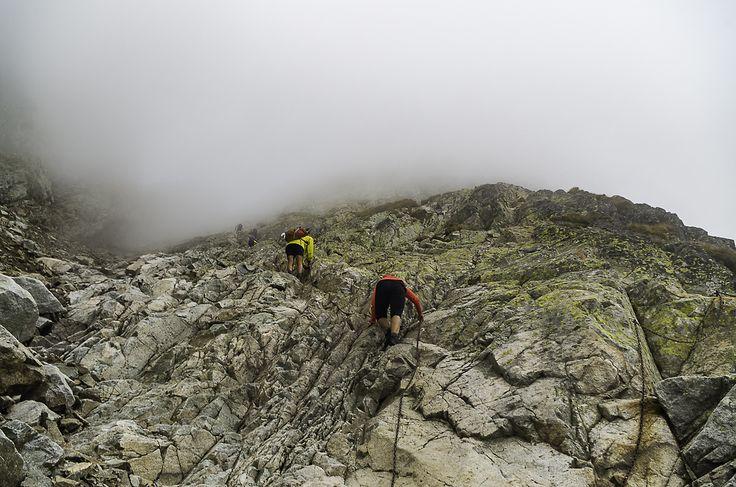 Climbers at Priecne Sedlo