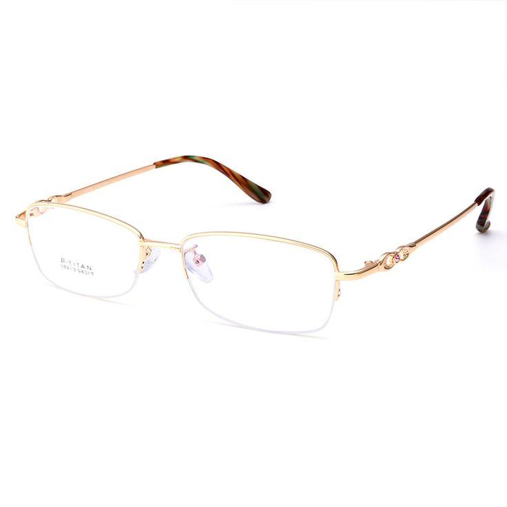 Gmei Optical S8213 Alloy Metal Semi-Rimless Eyeglasses Frame for Women Prescription Optical Eyewear Glasses