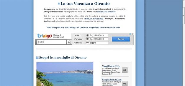 Redazione di alcuni articoli e testi per www.otrantonelsalento.it