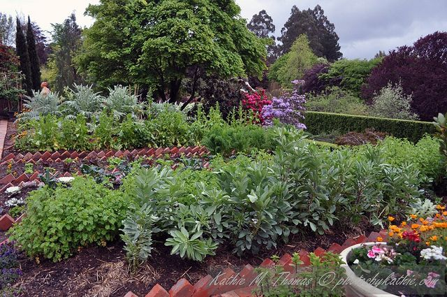Another view of the vegetable garden at Cloudehill