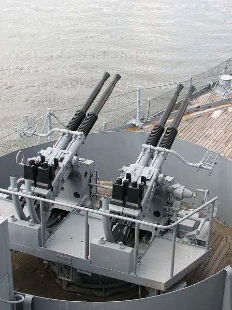 Bofors 40MM heavy machine guns on the battleship USS Massachusetts