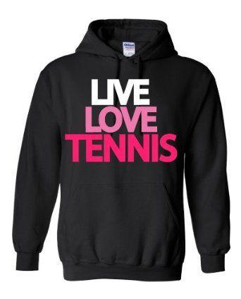 Amazon.com: Live Love Tennis Hoodie Sweatshirt: Clothing on Wanelo