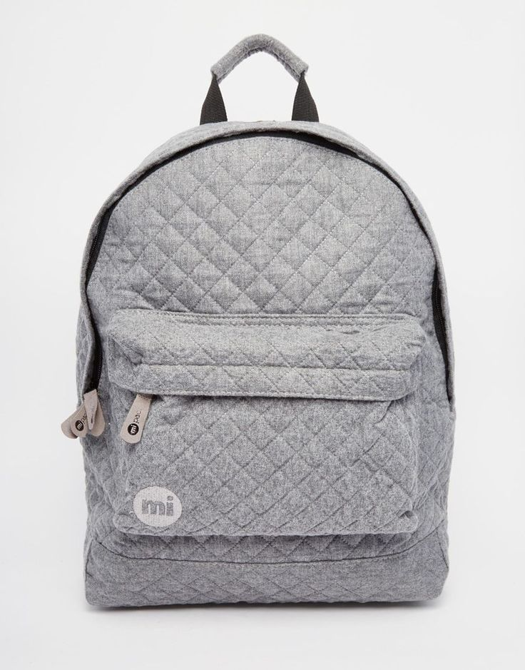 Image 1 of Mi-Pac Quilted Backpack in Grey