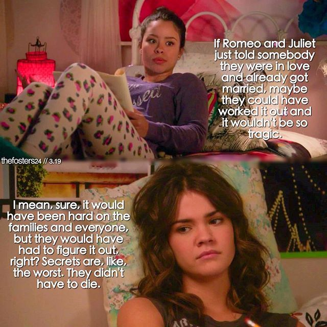 "#TheFosters 3x19 ""The Show"" - Mariana and Callie"