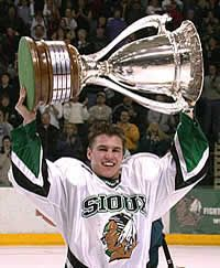 Before Zach Parise became the Devils captain, he helped University of North Dakota win its 13th WCHA Title in 2004.