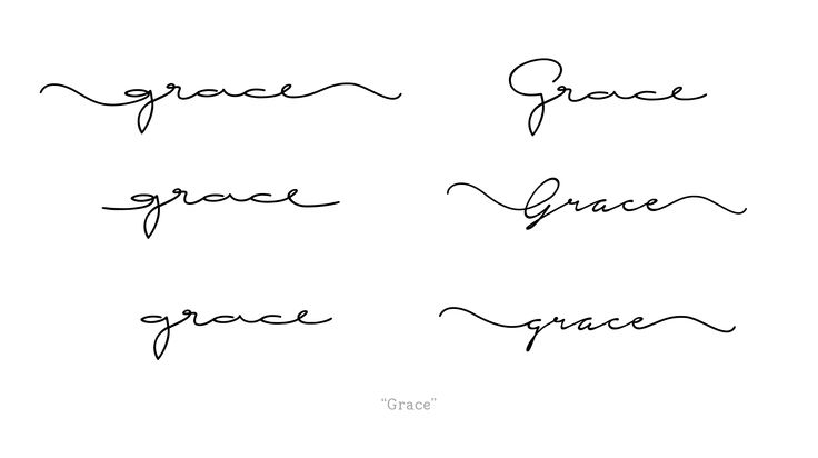 "Custom Request - handwritten cursive font - Tattoo - ""Grace"""