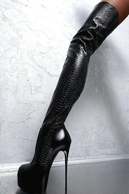 Your Fetish World Overknee High Heels aus weichem Stretch