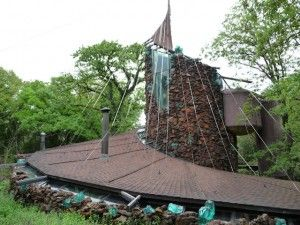 Babbinger House near Norman, OK built by famed architect Bruce Goff (no longer like this due to fire and weather)