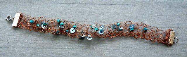 Braccialetto crochet in filo di rame {Esperimenti diy*Gioielli}