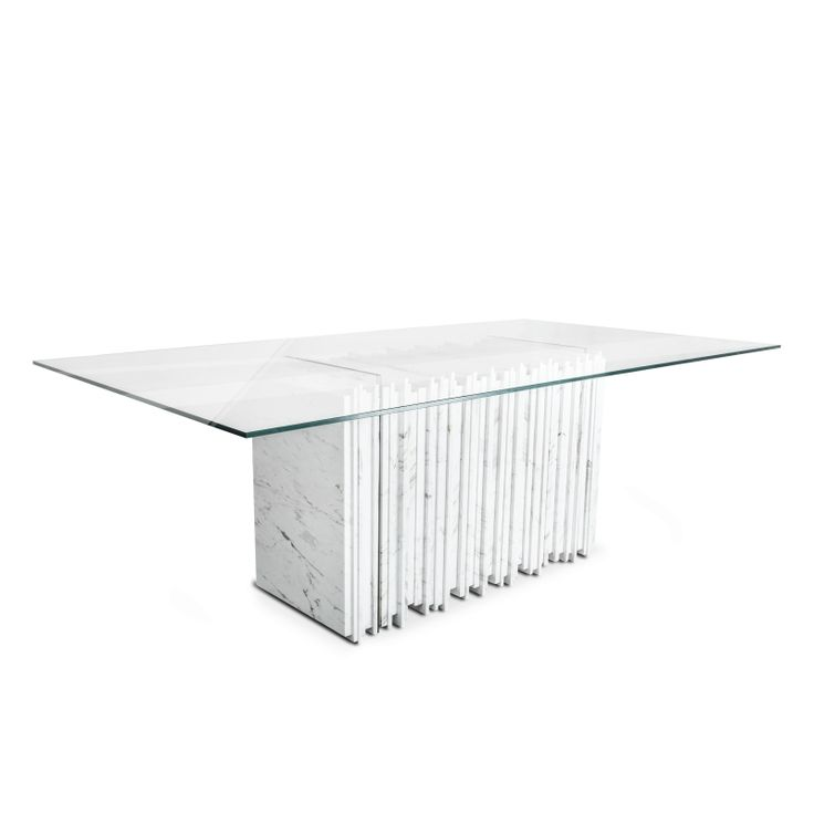 SEXTO CARRARA TABLE #BrahmansHome #BrahmansFiveElements #Brahmans #sexto #table #dining #carrara #marble #glass #design #interiordesign #interiors #luxury #furniture #homeinspirations #home #ideas