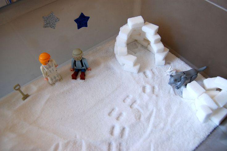 Bac sensoriel : l'hiver | Add fun and mix