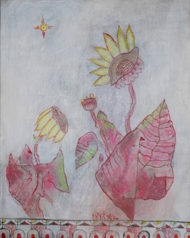 "Saatchi Art Artist Alexandru Ilea; Painting, ""Sunflowers"" #art"