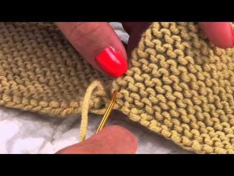 Mattress Stitch in Garter - YouTube