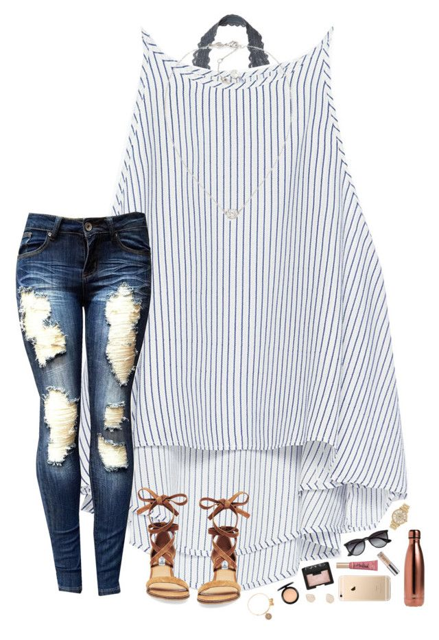 """""""HBD to my bestie! ✨"""" by hopemarlee ❤ liked on Polyvore featuring Victoria's Secret, Zara, Michael Kors, Ray-Ban, Steve Madden, NARS Cosmetics, Too Faced Cosmetics, S'well, Urban Decay and Carolee"""