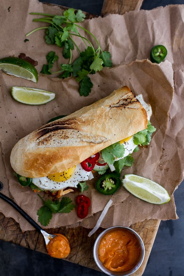 Mahi Mahi Banh Mi with Spicy Curried Mayo + Fried Eggs by halfbakedharvest
