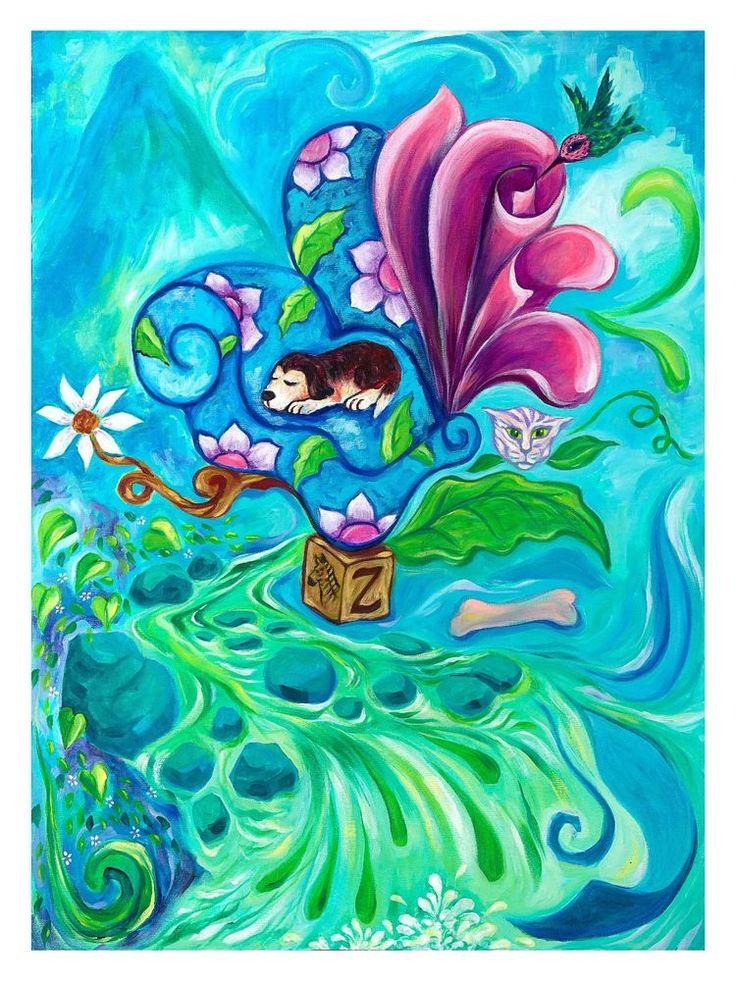 Firmado Por Jason Becker y Gary Becker Art Print Perro Dream (16x12 En.) | Arte, Grabados de bellas artes | eBay!