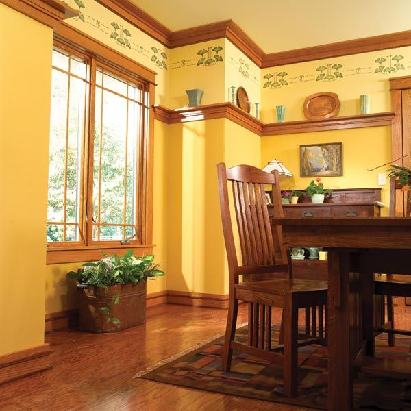 165 best rooms with wood stained trim images on pinterest for Craftsman interior trim
