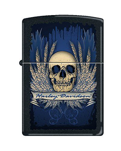 "Show your Rebel side with this black matte lighter. Elements of this lighter include a Skull, Harley-Davidson ribbon, and wings color imaged on this lighter. Comes packaged in an environmentally friendly gift box. For optimal performance, fill with Zippo premium lighter fluid. Product Features Genuine Zippo windproof lighter with distinctive Zippo ""click"" All metal construction; […]"