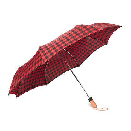 Buffalo check plaid umbrella | Madewell: Buffalo Plaid Checks, Umbrellas, Umbrella 35, Madewell Rainy Day, Rainy Day Umbrella, Check Plaid, Buffalo Check, Rainy Days
