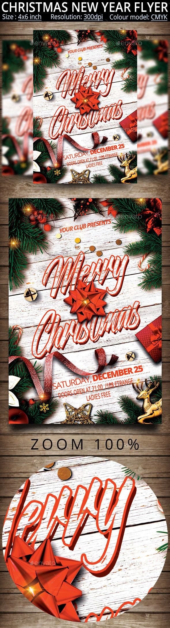 Christmas New Year Party Flyer 39 best