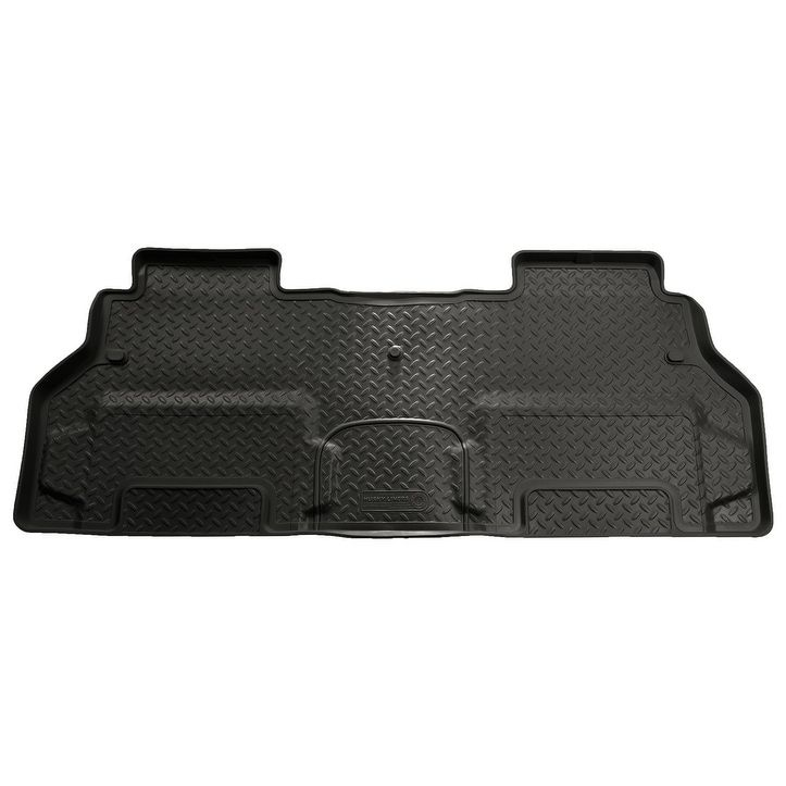 Husky Classic 2009-2016 Chevrolet Traverse 2nd Row Bench Black Rear Floor Mats/Liners
