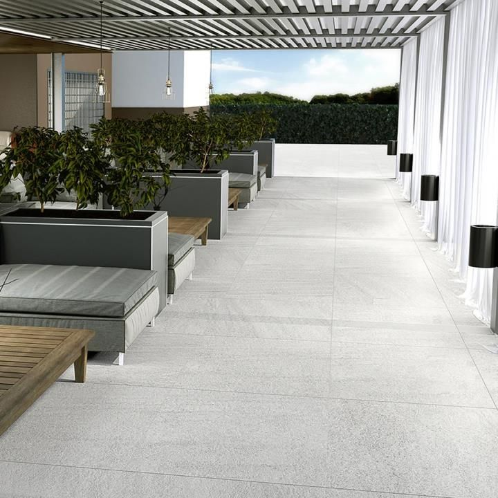 Extra Thick White Porcelain Anti Slip Exterior Outdoor Floor Tile From Direct Tile Warehouse Anglia Outdoor Tiles Floor Outdoor Flooring Garden Tiles