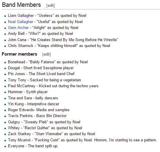 Oasis members :P