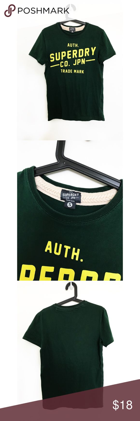 """Superdry green/yellow tee - Small (Unisex) Very cool Superdry t-shirt - size Small.   Measurements: Chest: 36"""" Length: 26"""" Superdry Tops"""
