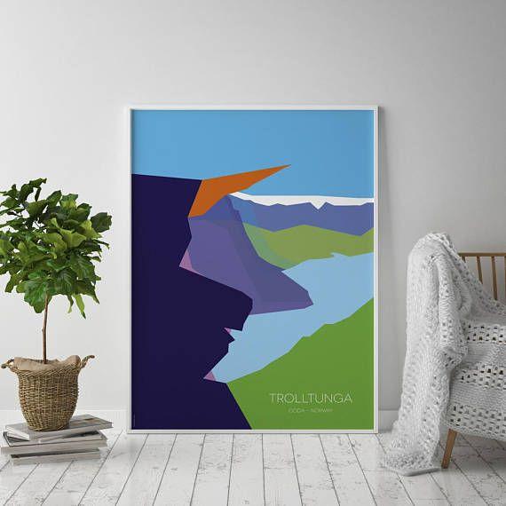 Trolltunga Norway  Art Poster