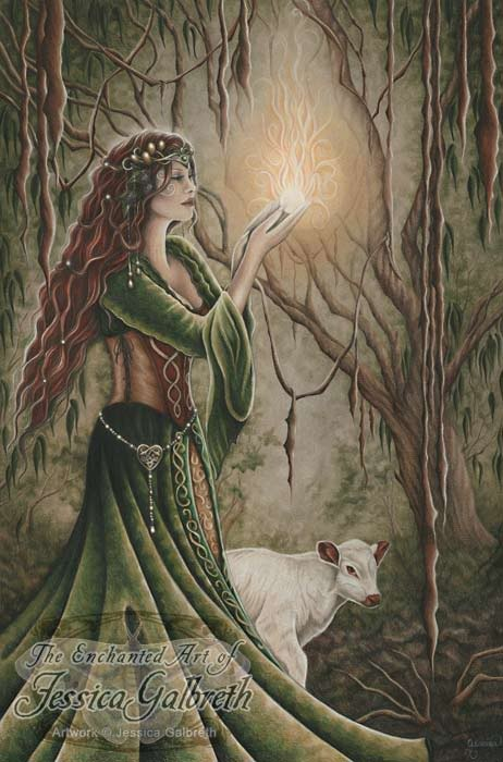 Imbolc, the Feast of the Goddess Brigid, is celebrated on February 1st. It marks the mid-point between the Winter Solstice and the Spring Equinox; a time when seeds sprout, spring is on the way, and the light is returning. It is a time to honor Brigid, goddess of fire, poetry, childbirth. It is a celebration of home and hearth. Imbolc is a time to celebrate growth and new beginnings.