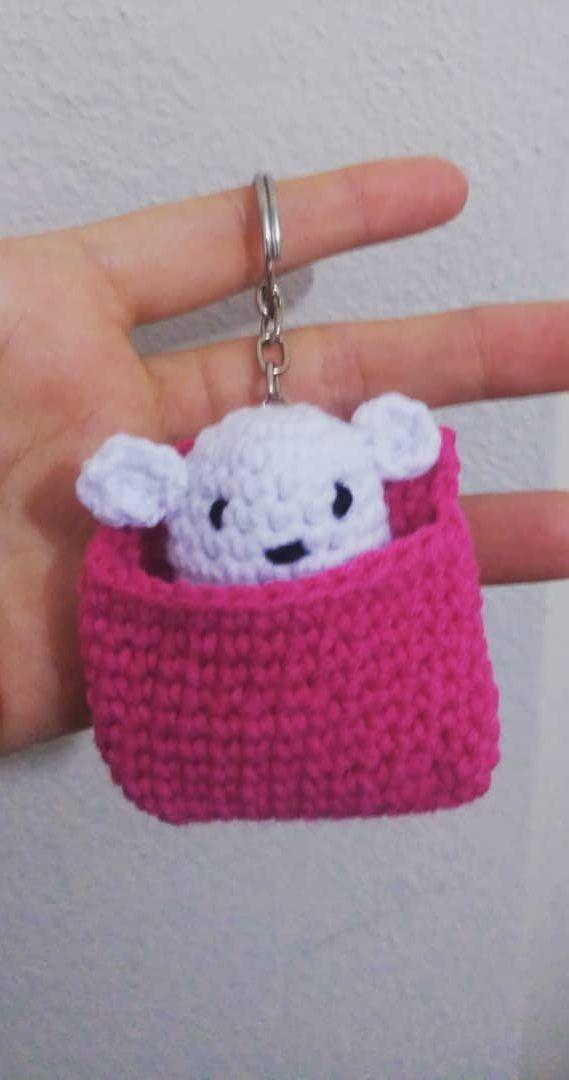 Best 12 Crochet Keychain Mouse Pattern Amigurumi Cute mouse ... | 1080x569