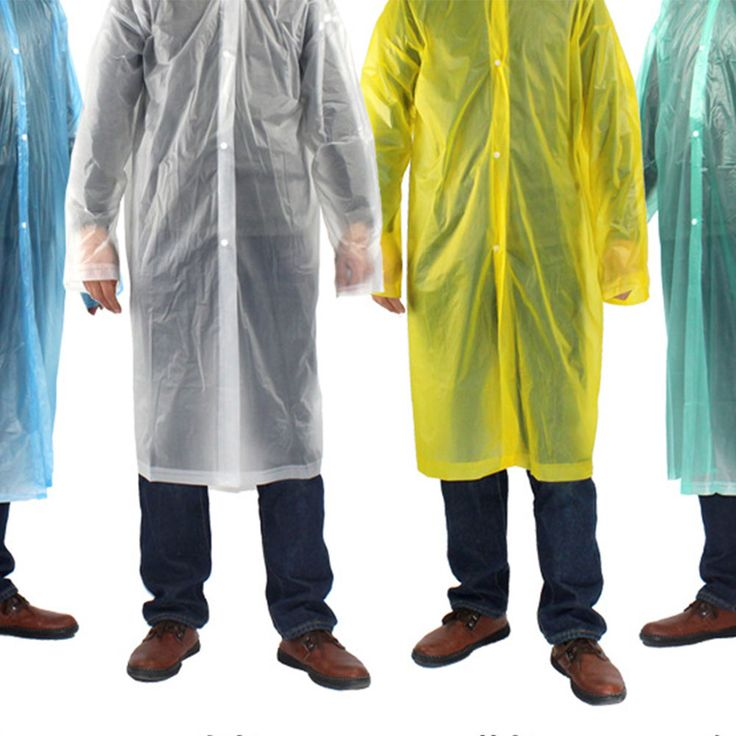 Disposable Adult Poncho Raincoat Hiking Camping Emergency Travel Rain Coat