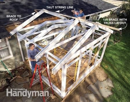 Screen Porch Construction The Family Handyman The
