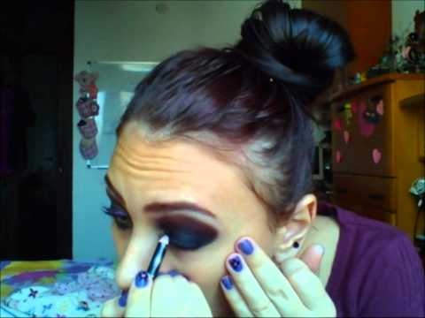 Black & Purple make-up tutorial
