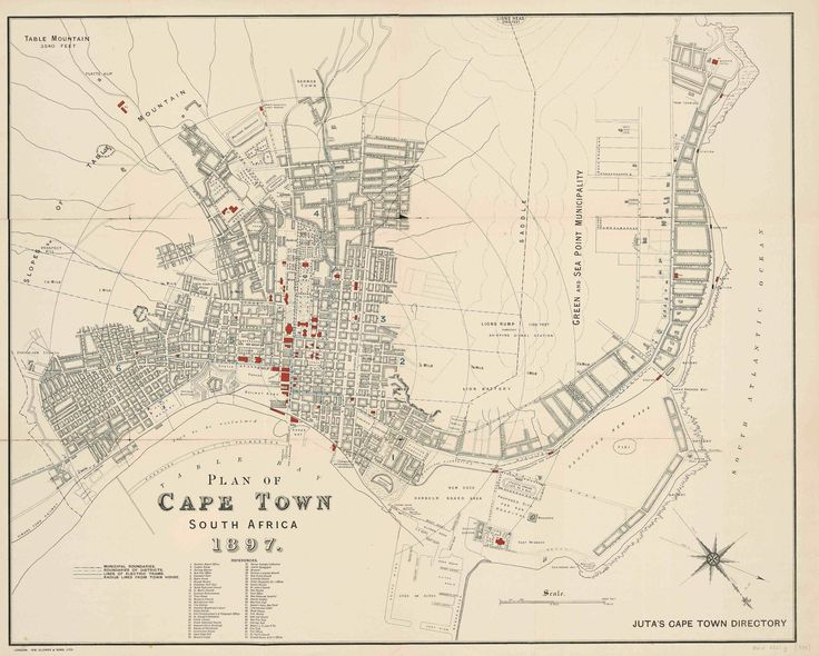 Cape Town Map 1897 (4391×3522)