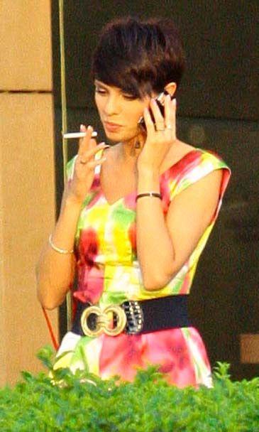 Dorota Gardias smoking