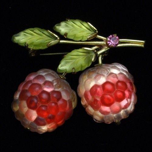 Austria Fruit Pin Vintage Glass Berries Austrian Brooch | eBay