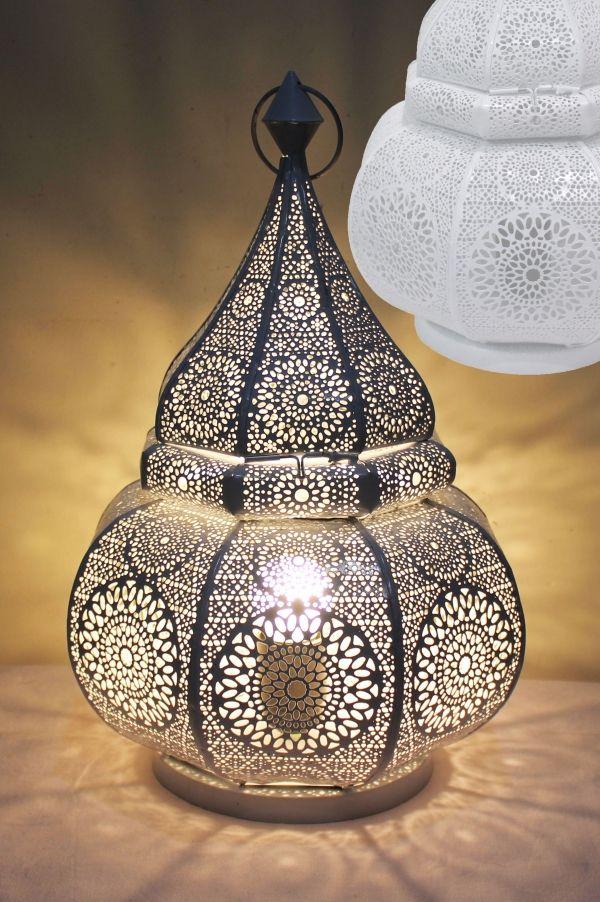 Orientalische Tischlampe Lampe Malha - Weiss