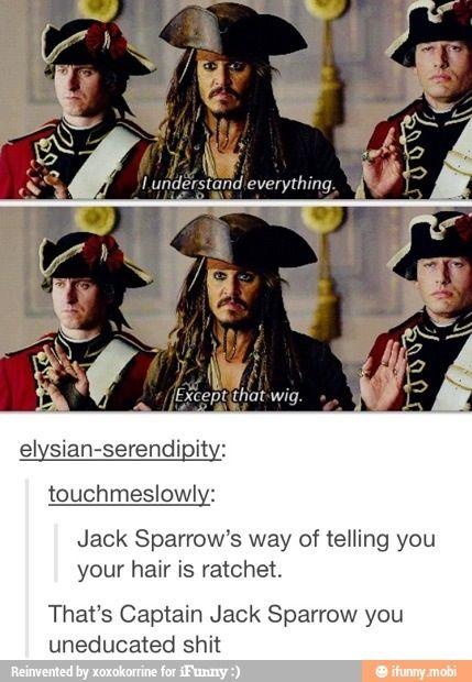 That's Captain Jack Sparrow