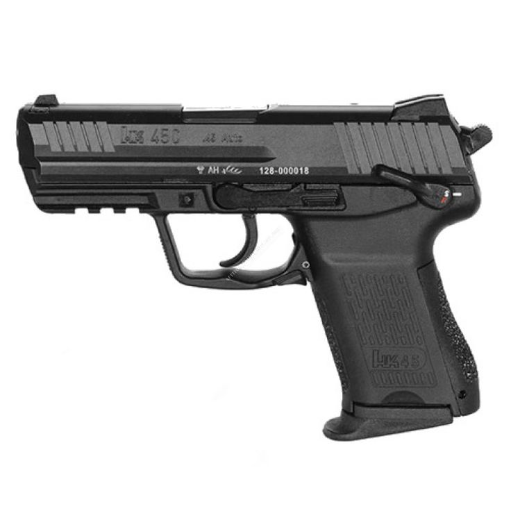 The Heckler & Koch HK45 compact has many of the features found on its bigger brother the HK45.