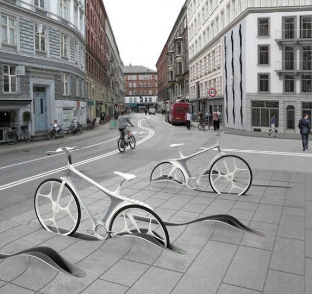 Fietsenrek door RAFAA in Kopenhagen (Denemarken) Door Nieuwewoning