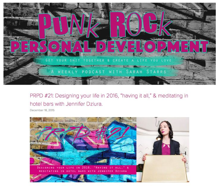 "Join Jen and Punk Rock Personal Development podcast host Sarah Starrs for an episode covering: Whether it's important to have ""lady-centric"" business advice How having ""mone…"