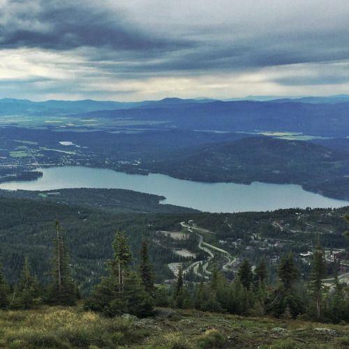 Whitefish Lake from Big Mountain. Whitefish, Montana.