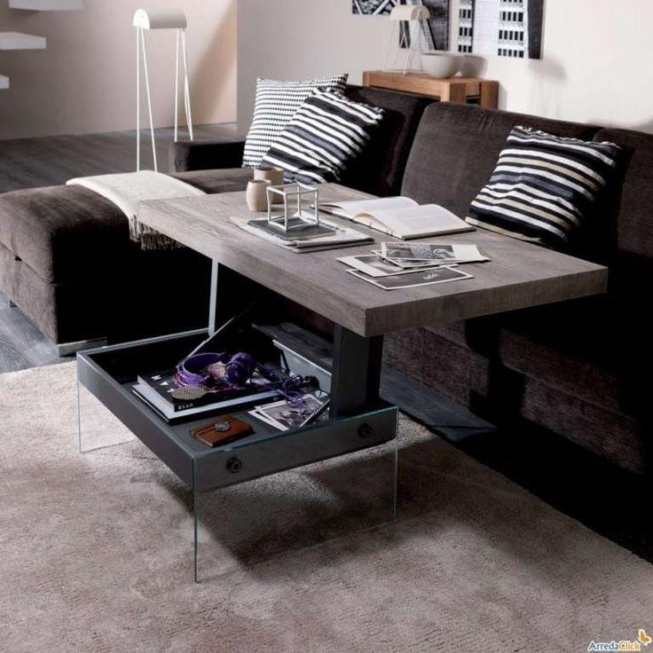 Tavolino che diventa scrivania - Arredare un appartamento di 45 mq con i tavolini trasformabili.
