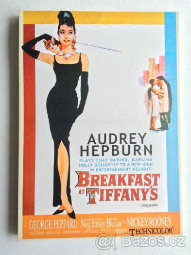Obraz Audrey Hepburn ze známého filmu Snídaně u Tiffanyho - 1