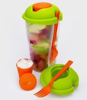 Reusable To Go Lunch CupIdeas, Fruit Salad, Colleges, Lunches Cups, Salad Dresses, Fruit Cups, Products, Healthy Lunches, Food Container