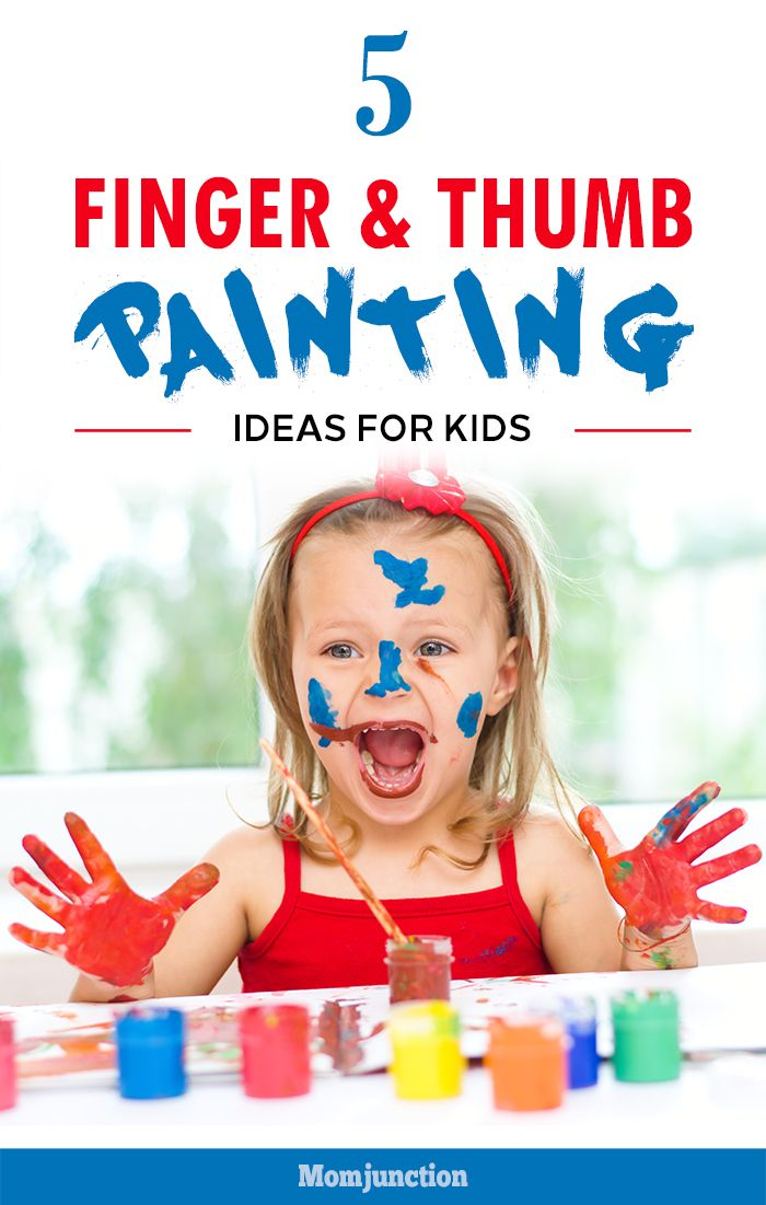 5 Amazing Finger & Thumb Painting Ideas For Kids